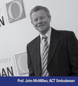 Photo: Prof. John McMillan, ACT Ombudsman