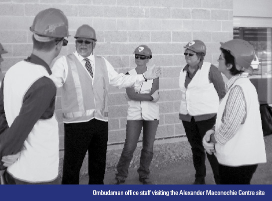 Ombudsman office staff visiting the Alexander Maconochie Centre site