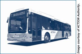 ACTION bus, Image courtesy of ACTION Authority