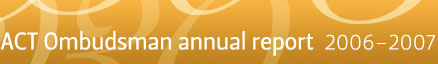 ACT Ombudsman annual report 2005–2006