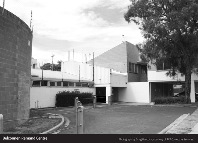 Belconnen Remand Centre. Photograph by Craig Hancock, courtesy of ACT Corrective Services.
